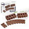 Kazi KY98215-2 KY98215-4 (NOT Lego City 7499 Flexible And Straight Tracks ) Xếp hình Bộ Ray Tàu Hỏa Cong Và Thẳng gồm 2 hộp nhỏ 24 khối
