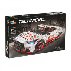 Rebrickable MOC-25326 Qizhile 23010 (NOT Lego Technic Nissan Gt-R ) Xếp hình Xe Đua Gt-R 3283 khối