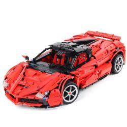 HAPPY BUILD SHINEYU XINYU XQ1002 1002 Xếp hình kiểu Lego TECHNIC LaFerrari xe đua Ferrari đỏ 3260 khối điều khiển từ xa