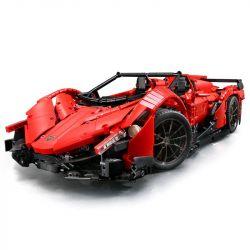 Lepin 20091 Mouldking 13079 Rebrickable MOC-10559 (NOT Lego Technic Lamborghini Veneno Roadster - 50Th Anniversary ) Xếp hình Siêu Xe Lamlamborghini Đỏ 2652 khối