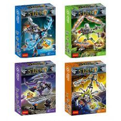 Decool 10704 10705 10706 10707 XSZ KSZ 710-1 710-2 710-3 710-4 (NOT Lego Bionicle 70791 70792 70793 70794 Skull Warrior ) Xếp hình Chiến Binh Xương gồm 4 hộp nhỏ lắp được 4 mẫu 102 khối