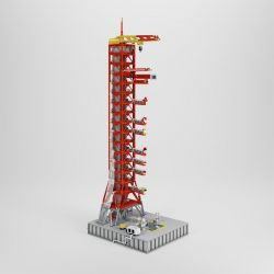 J BRAND J79002 79002 Xếp hình kiểu Lego IDEAS NASA Apollo Saturn V bệ phóng tàu vũ trụ Apolo Staturn V 3561 khối