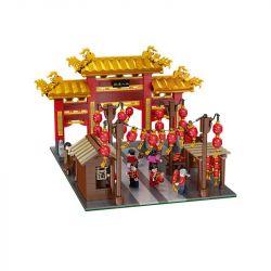ZHUMO 12033 Xếp hình kiểu Lego SEASONAL Lunal Year khung cảnh lễ hội 1735 khối