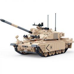 Gudi 6108 (NOT Lego Tank Battle British Tank ) Xếp hình Xe Tăng Chiến Đấu Chủ Lực Của Anh 1467 khối