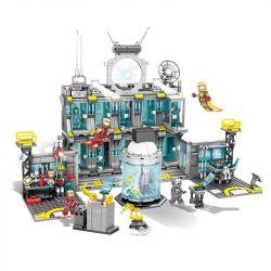 SHENG YUAN SY SY1187 1187 Xếp hình kiểu Lego SUPER HEROES Heroes Assemble Iron Man Base Căn Cứ Của Iron Man 1325 khối