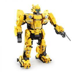 DOUBLEE CADA C51029 51029 Xếp hình kiểu Lego TRANSFORMERS B127 Beebot Deformation Robot B127 - Zhuangzahue, Yellow Beetle Người Máy Biến Hình điều Khiển Từ Xa lắp được 2 mẫu 1124 khối điều khiển từ xa