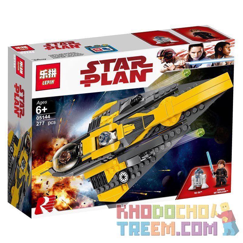 NOT Lego STAR WARS 75214 The Clone Wars Anakin's Jedi Starfighter , LEPIN 05144 Xếp hình Phi Thuyền Của Anakin 247 khối
