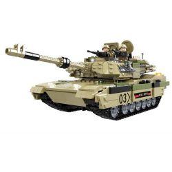 WOMA C0125 0125 Xếp hình kiểu Lego TANK BATTLE Abram M1A2 Xe tăng chiến đấu của Mỹ 1074 khối