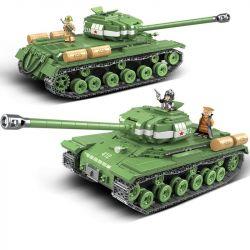 QUANGUAN 100062 Xếp hình kiểu Lego IS-2M Heavy Tank World War II Tank Stalin-2M Heavy Tank Xe Tăng Chiến đấu Hạng Nặng 1068 khối