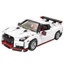 MOULDKING 13104 REBRICKABLE MOC-20518 20518 MOC20518 Xếp hình kiểu Lego CREATIVE IDEA Creaative Idea Nismo Nissan GTR R35 2017 Creativity 2017 GTR Nismo R35 Xe đua Nissan Màu Trắng 1024 khối