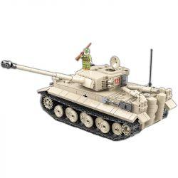 QUANGUAN 100061 Xếp hình kiểu Lego MILITARY ARMY Tiger 131 Jedi Tank Tiger Tank 131 Xe Tăng Chiến đấu T131 1018 khối