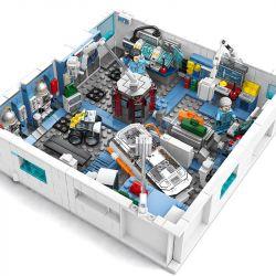 SEMBO 107021 107022 107023 107024 Xếp hình kiểu Lego THE WANDERING EARTH The Wandering Earth 4IN1 Space Station Wandering Earth Space Station 4 In 1 Ring Channel, Hibernation, CIC, Pilot Channel Trạm
