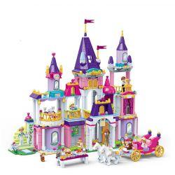 GUDI 9019 Xếp hình kiểu Lego Royal Ball Alice Princess Royal Dance Lâu đài Của Công Chúa Alice 992 khối