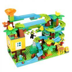 FEELO 1618 Xếp hình kiểu Lego Duplo DUPLO Forest Slide cầu trượt giữa rừng 200 khối