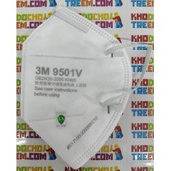 Khẩu trang 3M 9501V KN95 có đệm mũi lọc hơn 95% bụi siêu mịn PM2.5 có van thở, đeo tai, chính hãng nâng cấp của 9501VT