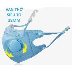 Khẩu trang trẻ em 3 - 10 tuổi KN95 Breazwell 530V lọc hơn 95% bụi siêu mịn PM2.5 có van thở, đệm mũi, chun vải mềm, đeo cả tai lẫn gáy chính hãng