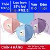 Khẩu trang 3M 9501C (bản thời trang của 9501V) KN95 có đệm mũi lọc hơn 95% bụi siêu mịn PM2.5 có van thở, đeo tai, chính hãng