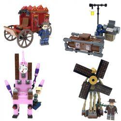 Le Yile 2301 (NOT Lego Identity V Chair Machine Carriage Children ) Xếp hình Công Cụ Bắt Giữ lắp được 4 mẫu 410 khối