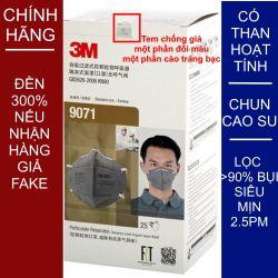 Một cái khẩu trang 3M 9071 KN90 lọc hơn 90% hơi độc bụi siêu mịn PM2.5 có màng than hoạt tính chính hãng mới hơn 3M 9041 toàn đồ giả