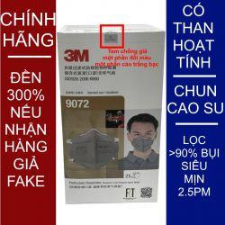 Một cái khẩu trang 3M 9072 KN90 lọc hơn 90% hơi độc bụi siêu mịn PM2.5 có màng than hoạt tính chính hãng mới hơn 3M 9042 toàn đồ giả