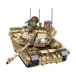 PanlosBrick 632008 Panlos Brick 632008 Xếp hình kiểu Lego CREATOR British Challenger II Main Battle Tank Xe tăng chiến đấu chủ lực Challenger II của Anh 1687 khối