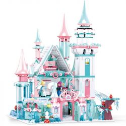 SLUBAN M38-B0789 B0789 0789 M38B0789 38-B0789 Xếp hình kiểu Lego GIRL'S DREAM Winter Pink Dream Dreamy Princess Dream Ice And Snow Castle Lâu đài Công Chúa Băng Giá 1314 khối