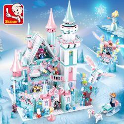 SLUBAN M38-B0789 B0789 0789 M38B0789 38-B0789 Xếp hình kiểu Lego GIRL'S DREAM Winter lâu đài công chúa băng giá 1314 khối