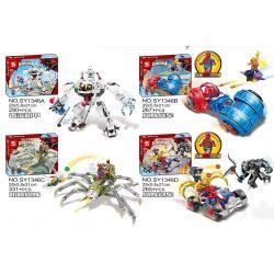 SHENG YUAN SY SY1346 1346 Xếp hình kiểu Lego SUPER HEROES Super Araneid-man Spider-Man Battle 4 Venom, Spider Chariot, Mechanical Spider, Spider Sports Car Người Máy Của Venom Và Xe Chiến đấu Của Ngườ