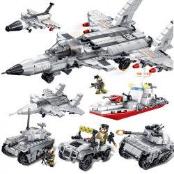 SEMBO 105321 105322 105323 105324 105325 105327 105328 10536 Xếp hình kiểu Lego IRON BLOOD HEAVY EQUIPMENT Iron Blood Heavy Equipment J-20 Iron Plate 歼 -20 Fighter 8 Combination Các Loại Máy Bay, Tàu,