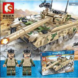 SEMBO 105562 Xếp hình kiểu Lego IRON BLOOD HEAVY EQUIPMENT VT-4 Main Battle Tank Xe tăng chiến đấu chủ lực VT-4 432 khối