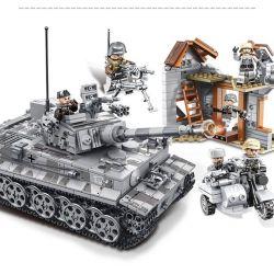 SEMBO 101401 Xếp hình kiểu Lego EMPIRES OF STEEL Empires Of Steel Xe tăng chiến đấu 1154 khối