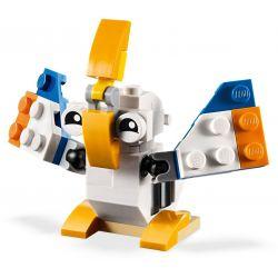 XINH 5500A Xếp hình kiểu Lego CREATOR Pelican Creative Three Changes 鹈鹕, Parrot, Rabbit Bồ Nông 62 khối