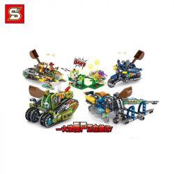 SHENG YUAN SY SY7023 7023 Xếp hình kiểu Lego PLANTS VS ZOMBIES Plants Vs. Zombies Carry 4 Models 4 Xe 935 khối