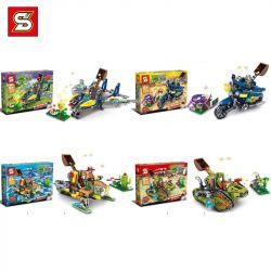 SHENG YUAN SY SY7023 7023 Xếp hình kiểu Lego PLANTS VS ZOMBIES 4 Vehicles 4 xe 935 khối