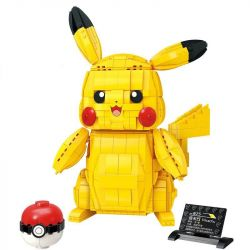 Enlighten S0101 0101 Qman S0101 0101 Xếp hình kiểu Lego POKÉMON Pokemon Elf Treasure Dream Large Pikunchu Pikachu 911 khối