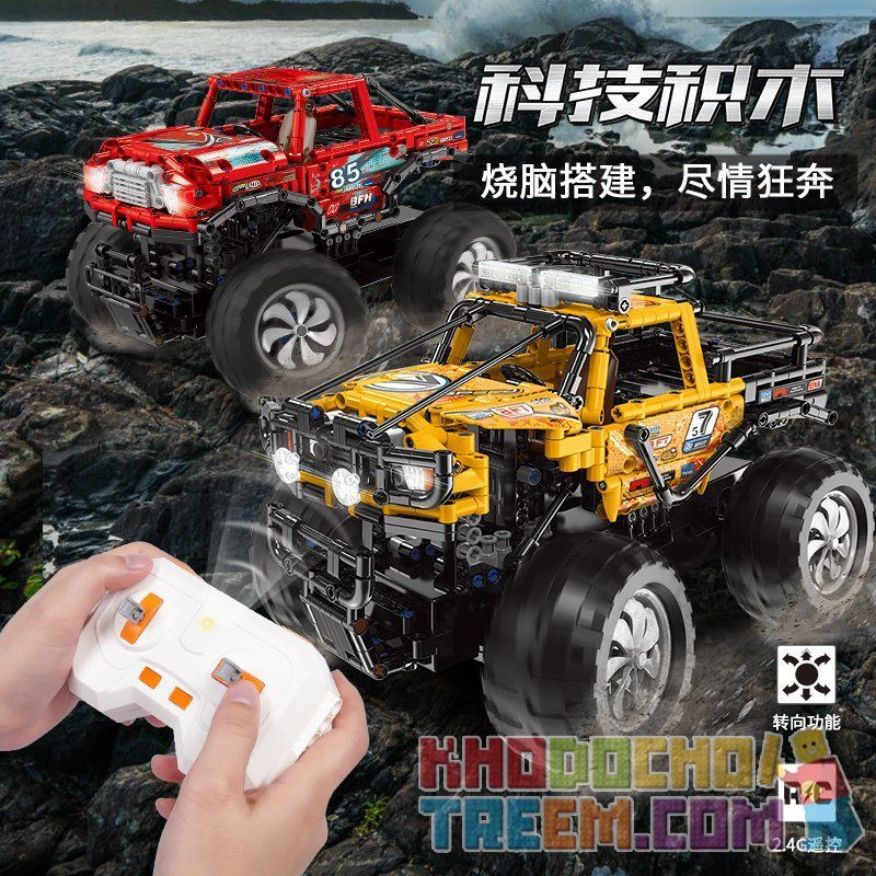 XINGBAO XB-22003 22003 XB22003 Xếp hình kiểu Lego TECHNIC Yellow Off-road Vehicle Xe địa hình màu vàng 834 khối