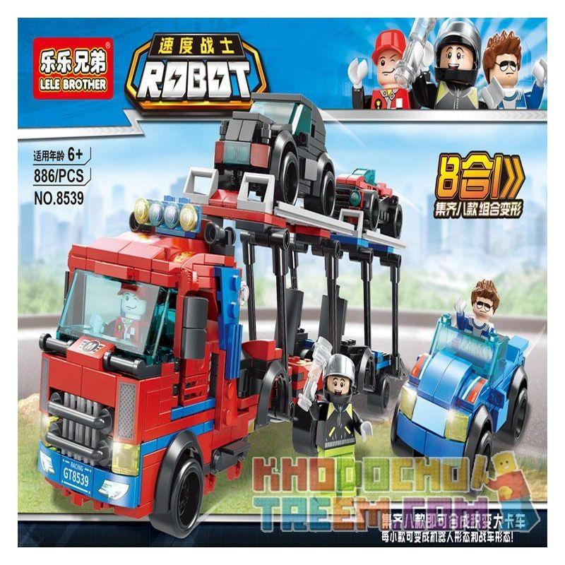 LELE BROTHER 8539 Xếp hình kiểu Lego TRANSFORMERS 8-in-1 Product Becomes Big Truck Sản phẩm 8 trong 1 trở thành xe tải lớn lắp được 8 mẫu 886 khối