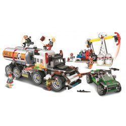 Winner 5105 Xếp hình kiểu Lego SHARP ARROWS ACTION Sharp Arrows Action Oil Base 01 Jiancheng Action 01 Petroleum Base Gốc Dầu Số 01 792 khối