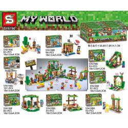 SHENG YUAN SY SY6190 6190 Xếp hình kiểu Lego MINECRAFT My World Amusement Park 8 Combination Công Viên Giải Trí Minecraft 8 Tổ Hợp 744 khối