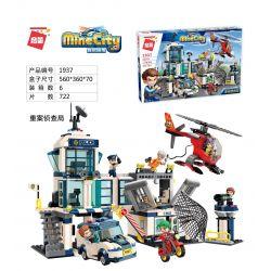 Enlighten 1937 Qman 1937 Xếp hình kiểu Lego MINECITY My City Right Case Reconnaissance Bureau Cục điều Tra Nghiêm Túc 722 khối