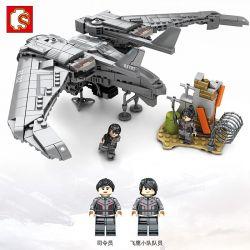 SEMBO 107062 Xếp hình kiểu Lego Shanghai Fortress Drone Máy Bay Không Người Lái 722 khối