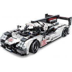 Sembo 701652 Xếp hình kiểu LEGO Speed Champions porscho 919 Xe kéo lùi 919 của Porsche 621 khối