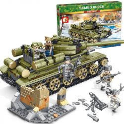 SEMBO 101038 Xếp hình kiểu Lego EMPIRES OF STEEL Empires Of Steel T34 Steel Empire Soviet T-34 Tank Đế Chế Thép Xe Tăng T-34 Của Liên Xô 683 khối