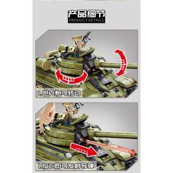 SEMBO 101038 Xếp hình kiểu Lego EMPIRES OF STEEL Empires Of Steel:T34 Đế chế thép: xe tăng T-34 của Liên Xô 683 khối
