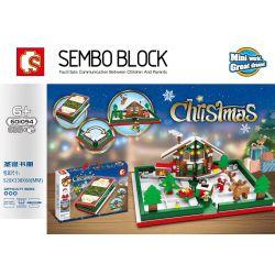 SEMBO 601094 Xếp hình kiểu Lego CREATOR Christmas Sách giáng sinh 635 khối