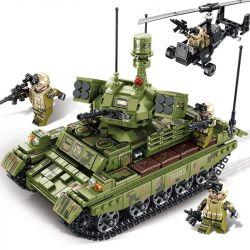 Sembo 105712 (NOT Lego Tank Battle Iron Blood ) Xếp hình Xe Tăng Chiến Đấu Hạng Nặng 894 khối