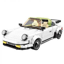 MOULDKING 13103 Xếp hình kiểu Lego CREATIVE IDEA Creaative Idea PORSCHE 911 TARGA Creativity Xe Porsche Trắng 882 khối