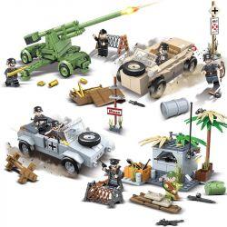 QUANGUAN 100080 Xếp hình kiểu Lego HEROES & GENERALS Heroes And Generals Hero And General 4 Models In The German Position Trận Chiến Của Người Đức 858 khối