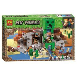 LARI 11363 SX 1035 XINH 5142 Xếp hình kiểu Lego MINECRAFT The Creeper Mine My World Creeper Mine Treasure Mỏ Cây Leo 834 khối
