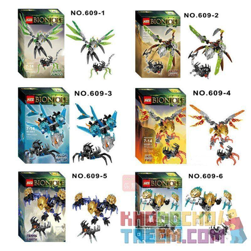 NOT Lego BIONICLE 71304 Terak - Creature Of Earth, XSZ KSZ 609-5 Xếp hình chiến binh sinh học 74 khối